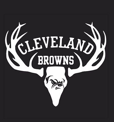 Deer Hunting Antler Truck or Car Window Decal Sticker Cleveland Browns Football