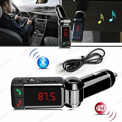 3.5mm Wireless Bluetooth Car Kit FM Transmitter Handsfree Dual USB Charger MP3