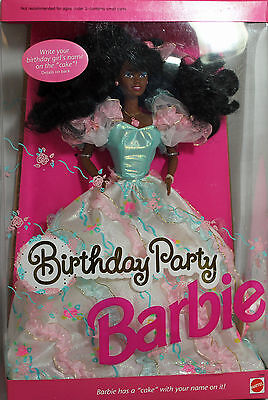 Birthday Party AA Barbie 1992, NRFB Mint w/LN box - 07948