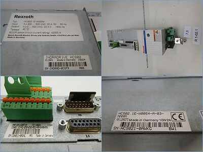 REXROTH hcs02.1e-w0054-a-03-nnnn+csh01. 1c-pl - ENS - en2-md1-nn - FW COMPLETE