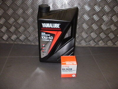 Yamaha  SEMI SYNTHETIC oil service kit R6  2006 TO 2013  genuine items only