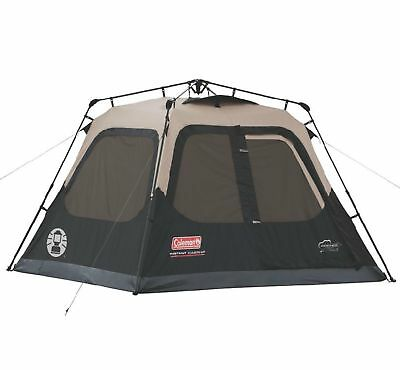 Coleman Outdoor Family Camping 4-Person Instant Tent 8 x 7 Feet w/ WeatherTec