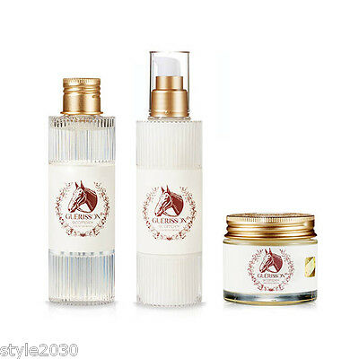[Guerisson] 9 Complex Horse Oil Toner 130ml + Lotion 130ml + Cream 70g Set