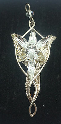Lord of the Rings Arwen's Evenstar SS 925 & Crystal Pendant TNC NLP Inc.