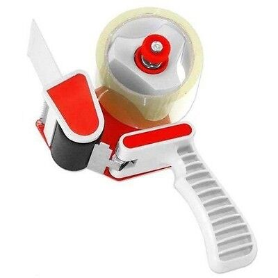 "Red 2"" Inch Portable Tape Gun Dispenser Packing Packaging Sealing Cutter"