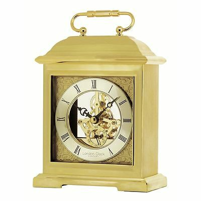 London Clock Co Gold Finish Skeleton Carriage Clock
