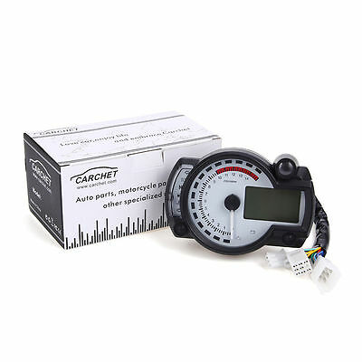 Universal Motorcycle Rotate Speed Meter Instrument Odometer Water Thermometer