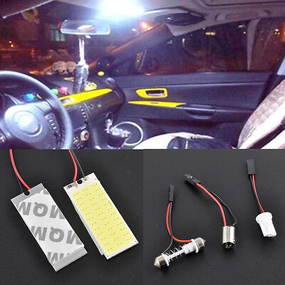 2PCS HID 36 COB LED Dome Map Bulb Light Car Interior Panel Lamp Xenon White 12V