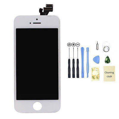 White For iPhone 5 LCD Replacement Touch Screen Digitizer Display Assembly +Tool