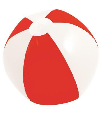 16 Inch Inflatable Blow Up Novelty Red & White Beach Ball Kids Summer Gift Toy