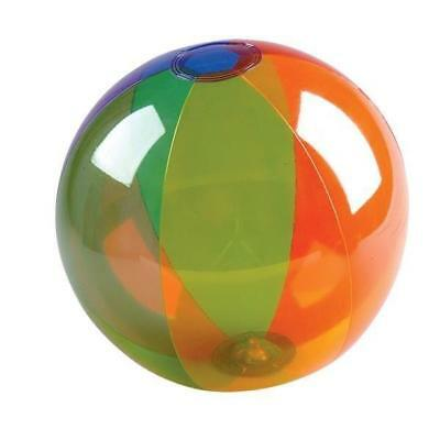 16 Inch Inflatable Blow Up Novelty Bright Rainbow Beach Ball Kids Fun Summer Toy