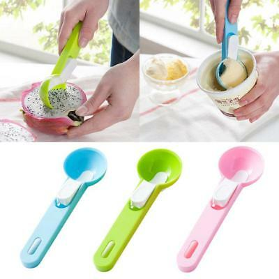 NEW Ice Cream Spoon Mash Potato Food Spoon Kitchen Half Ball Fruit Scoops - CB