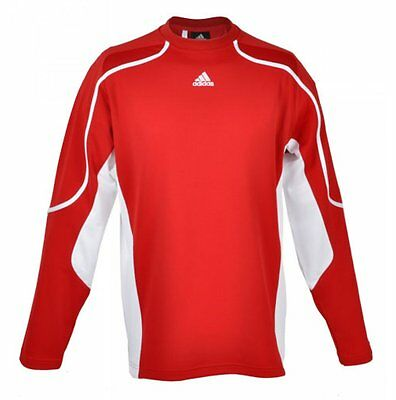Adidas Performance T-Shirt langarm Climalite L rot Trainingsshirt Funktionsshirt