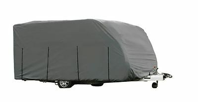 Heavy Duty Caravan Cover 690-750cm (23-25ft) 3 Ply Breathable UV Protection