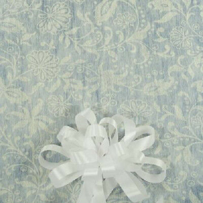 100' Ivory Floral Lace Print Wedding Aisle Runner W/Tape&Rope