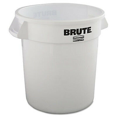 Rubbermaid 10 Gal. Round Brute Container (White) 2610WHI NEW