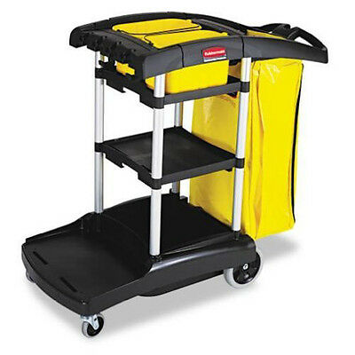 Rubbermaid High Capacity Cleaning Cart (Black) 9T7200BK NEW
