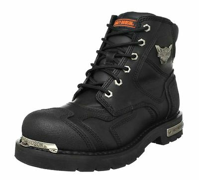 Harley-Davidson® Men's Stealth Riding Black Leather Motorcycle  Boots D91642