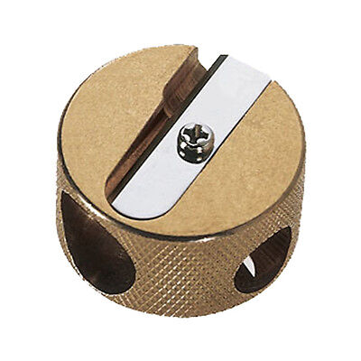 Mobius + Ruppert Brass Double Hole Round Pencil Sharpener