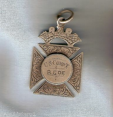 #D249.  1907  St. PATRICKS MARIST  BROTHERS COMBINED SCHOOLS COMP. SILVER FOB