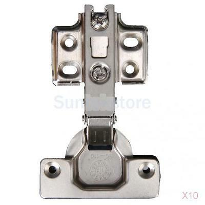 10x Self Close Full Overlay Hinge Concealed Door Kitchen Cabinet Cupboard Closet