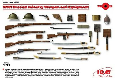 Icm 35672 - 1/35 Wwi Russian Infantry Weapon And Equipment - Neu