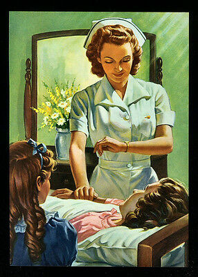 """Vintage 1957 """"why Does God Permit Sickness?"""" Christian Art By Clyde Provensha"""
