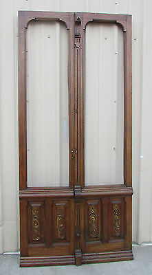 Antique Mexican Old Pair Carved Doors-Vintage-Primitive-Rustic-45x100---WOW