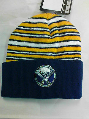 quality design acb55 68196 NHL Buffalo Sabres cuff beanie hat boys size 2-4T NWT Navy Blue   Yellow