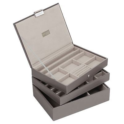 Stackers by LC Designs Mink & Grey Classic Set of 3 Jewellery Trays