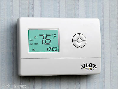Heating Cooling Heat Pump Thermostat Digital Control HVAC Furnace Energy Saver