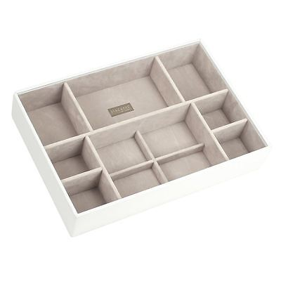 Stackers by LC Designs White & Grey Supersize Deep 11 Section Jewellery Tray