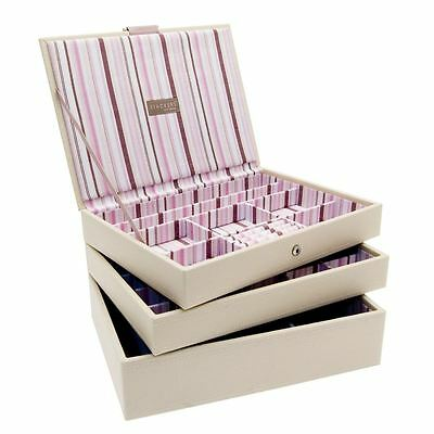 Stackers by LC Designs Set of 3 Cream Medium Stacker Jewellery Trays