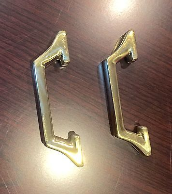 Beautiful Sold Brass Handle Very Shiny For Cabinets Or Drawer Brand New Set Of 6