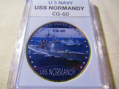 US NAVY - USS NORMANDY - CG-60 Challenge Coin
