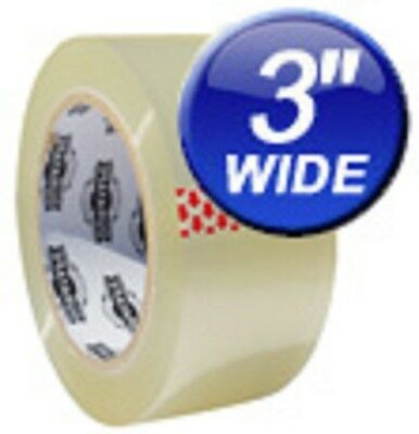 "12 ROLLS Heavy Duty 3"" 110 Yard Eco-Tape® Brand Clear Carton Packing Tape"