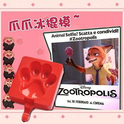 Zootopia Paw Popsicle Mold Nick Wilde Fox Ice Lolly Mold DIY Cute Gift New