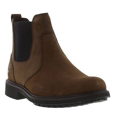 Timberland Earth Keeper Stormbuck Mens Brown Leather Chelsea Boots 5552R