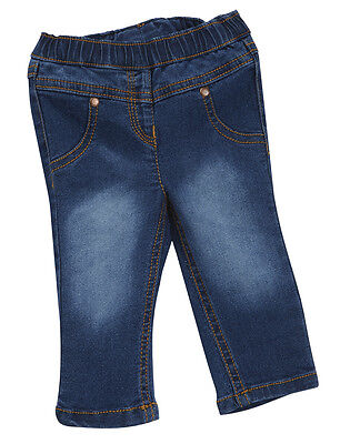 Baby Girls Denim Legging 3-6m up to 18-24m Pull on Made to look like Jeans
