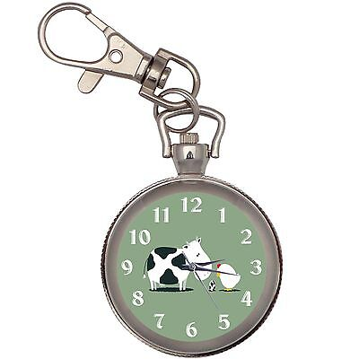 Cow Chicken Egg  Key Chain Keychain Pocket Watch