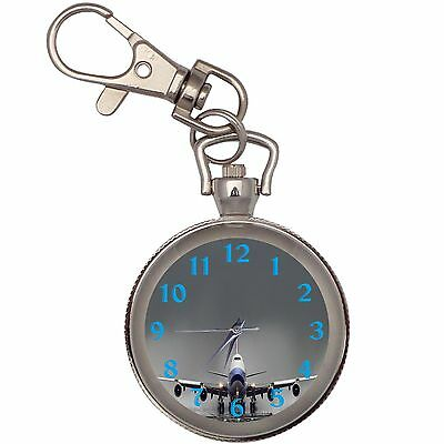 Boeing 747 Key Chain Keychain Pocket Watch