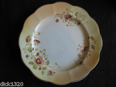 """VICTORIAN HAND-PAINTED 7"""" TEAPLATE  ALLERTONS 'TRILBY' c.1900"""