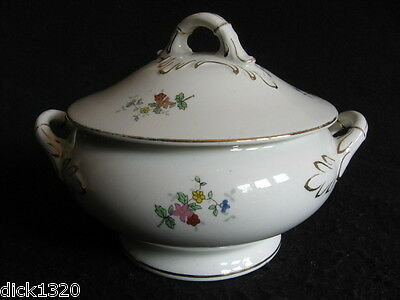 "ART DECO EMPIRE WARE 7"" SAUCE TUREEN with LID GILDED CREAMWARE c.20's/30's EX"