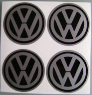 4x 58 mm fit volkswagen vw wheel STICKERS center badge centre trim cap hub alloy