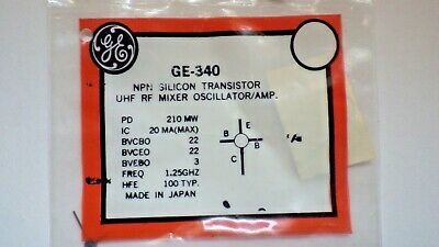 General Electric Ge-340 Npn Silicon Transistor Nib