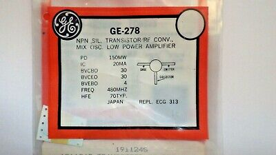 General Electric Ge-278 Npn Silicon Transistor Nib