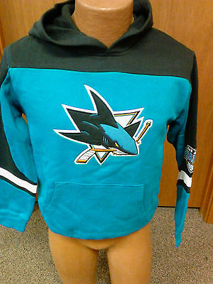 363ad25df BRAND NEW WITH Tags Youth Sizes San Jose Sharks Teal Hooded NHL ...