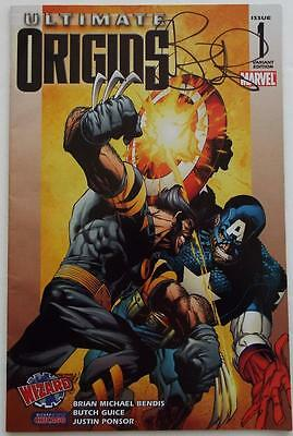 BRIAN MICHAEL BENDIS SIGNED ULTIMATE ORIGINS Marvel #1 Variant Wizard World RARE