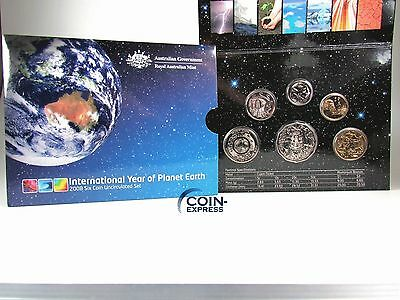 *** AUSTRALIEN Dollar KMS 2008 International Year of Planet Earth Kursmünzensatz