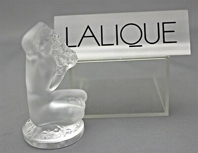 "LALIQUE ""FLOREAL"" Nude Lady Satin Crystal Figurine in Box Signed France Glass"
